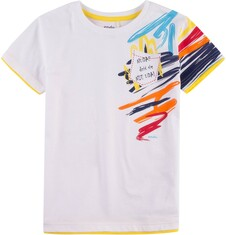 T-shirt z kontrastowym wykończeniem dla chłopca 9-13 lat C71G517_1