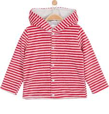 Welurowa, rozpinana bluza z kapturem dla niemowlaka N62C021_1