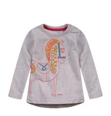 Melanżowa bluzka z dłuższym tyłem dla niemowlaka N52G035_1