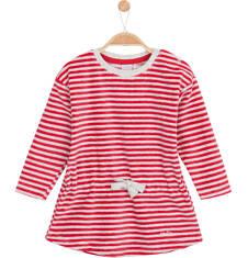 Welurowa sukienka ściągana w pasie dla niemowlaka N62H019_1