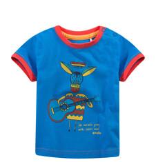 T-shirt z kolorową lamówką dla niemowlaka N51G031_2
