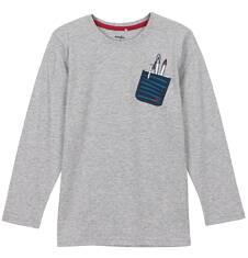 T-shirt z długim rękawem dla chłopca 9-12 lat C62G502_1