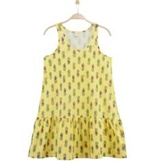 Rozszerzana sukienka z  falbanką damska Y61H017_1