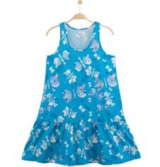 Rozszerzana sukienka z  falbanką damska Y61H027_1