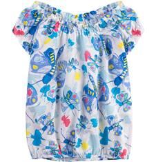 Luźna marszona bluzka dla dziewczynki 9-13 lat D71G664_1