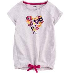 Tunika z krótkim rękawem dla dziewczynki 9-13 lat D71G677_1