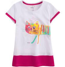 Tunika z krótkim rękawem dla dziewczynki 9-13 lat D71G616_1