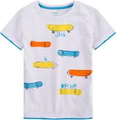 T-shirt z kontrastowym wykończeniem dla chłopca 9-13 lat C71G679_1