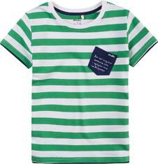 T-shirt z kontrastowym wykończeniem dla chłopca 9-13 lat C71G585_1