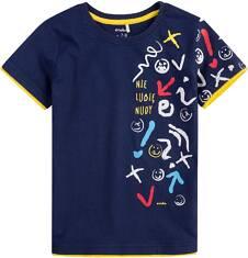 T-shirt z kontrastowym wykończeniem dla chłopca 9-13 lat C71G515_1