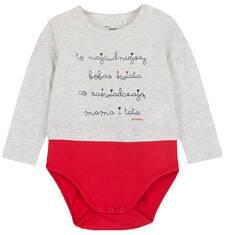 Body z długim rękawem dla niemowlaka N62M015_1