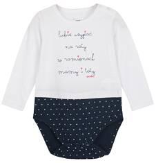 Body z długim rękawem dla niemowlaka N62M018_1