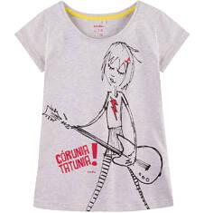 Bluzka z krótkim rękawem dla dziewczynki 4-8 lat D71G042_1