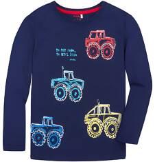 T-shirt z długim rękawem dla chłopca 9-13 lat C72G524_1