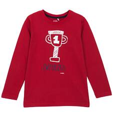 T-shirt z długim rękawem dla chłopca 3-8 lat C62G129_1
