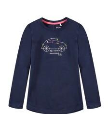 Bluzka z długim, podwijanym rękawem dla dziewczynki D52G050_1