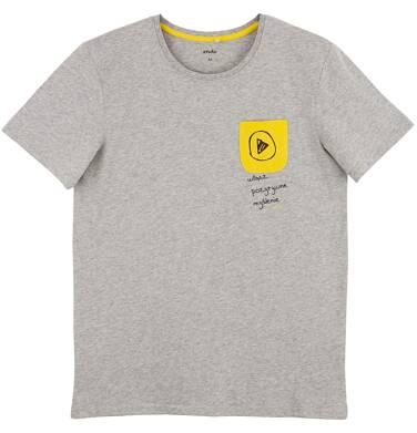 Melanżowy t-shirt męski Q61G006_1