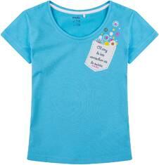 Bluzka z krótkim rękawem dla dziewczynki 9-13 lat D71G662_1