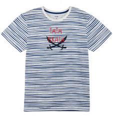 T-shirt w paski męski Q61G013_1