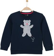 Gruba bluza przez głowę dla dziewczynki 9-12 lat D62C502_1