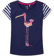 Bluzka z krótkim rękawem dla dziewczynki 9-13 lat D71G665_1