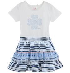Sukienka z falbankowym dołem dla dziewczynki D61H032_1