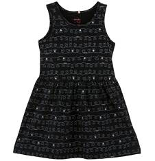 Sukienka we wzorzysty deseń dla dziewczynki D61H045_1