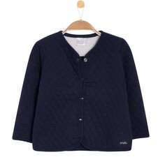 Pikowana, rozpianana bluza dla niemowlaka N52C027_1