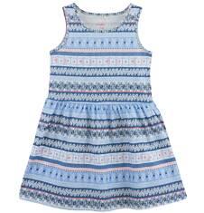 Sukienka we wzorzysty deseń dla dziewczynki D61H070_1