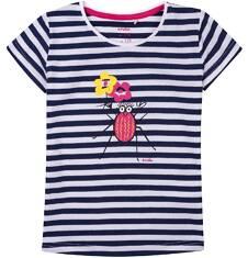 Bluzka z krótkim rękawem dla dziewczynki 9-13 lat D71G666_1