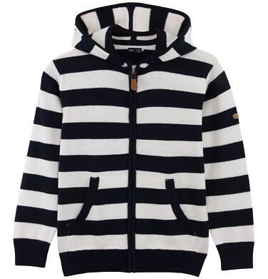 Rozpinany sweter w paski dla chłopca C61B004_1
