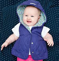 Pikowana kamizelka z kapturem dla dziewczynki 2-3 lata N71A011_1