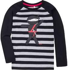 Koszulka z długim reglanowym rękawem dla chłopca 9-13 lat C72G599_1