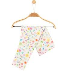 Legginsy w kolorowy deseń dla niemowlaka N61K042_1