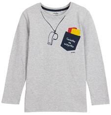T-shirt z długim rękawem dla chłopca 9-12 lat C62G521_1