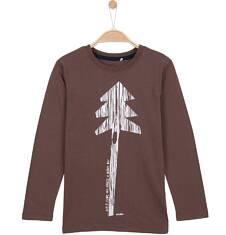 T-shirt z długim rękawem dla chłopca 9-12 lat C62G548_1