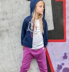 Spodnie z opuszczonym krokiem dla dziewczynki 9-13 lat D72K516_1