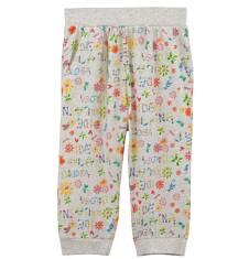Spodnie 3/4 w kwiatowy deseń dla dziewczynki D61K028_1