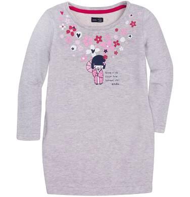Sukienka o charakterze bluzy dla dziewczynki 9-13 lat D72H549_1