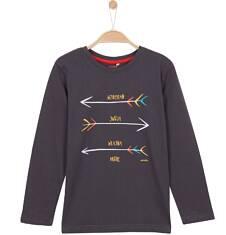 T-shirt z długim rękawem dla chłopca 9-12 lat C62G575_1
