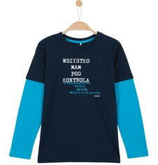 T-shirt z długim rękawem dla chłopca 3-8 lat C62G094_1