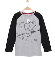 T-shirt z długim rękawem dla chłopca 9-12 lat C62G627_1