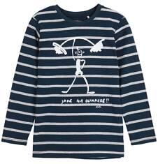 T-shirt z długim rękawem dla chłopca 9-12 lat C62G633_1
