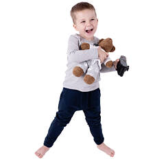 Spodnie dresowe z obniżonym krokiem dla chłopca 3-8 lat C62K006_2