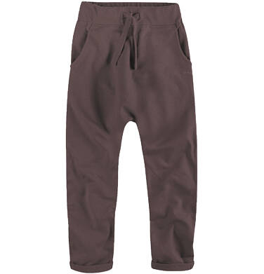 Spodnie dresowe z obniżonym krokiem dla chłopca 9-12 lat C62K506_3