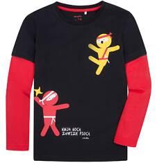 Koszulka z długimi, odcinanymi rękawami dla chłopca 9-13 lat C72G600_1