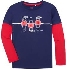 Koszulka z długimi, odcinanymi rękawami dla chłopca 9-13 lat C72G511_1