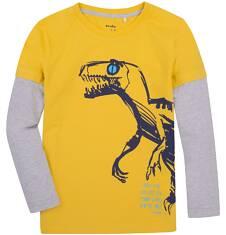 Koszulka z długimi, odcinanymi rękawami dla chłopca 9-13 lat C72G617_2