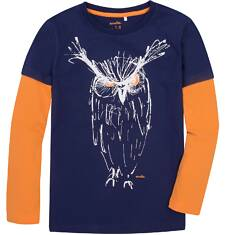 Koszulka z długimi, odcinanymi rękawami dla chłopca 9-13 lat C72G634_2