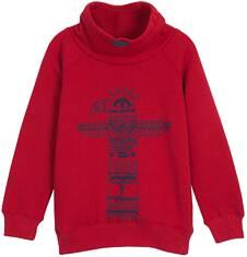 Gruba bluza z rękawem typu reglan i golfem dla chłopca 3-8 lat C62C016_1